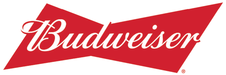 Budweiser Logo white outline